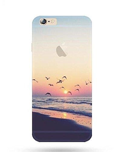 """Étui pour iPhone 6 iPhone 6S TPU, Ruirs Nice coloré d'impression ultra-transparent transparent TPU téléphone étui pour iPhone 6 / 6S 4.7""""(Nice Plage)"""