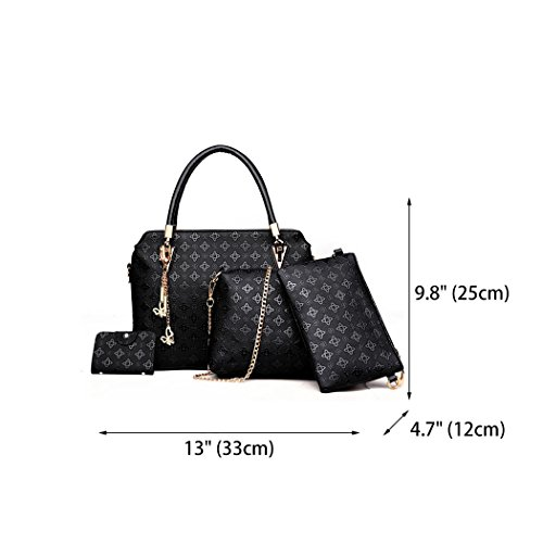 Handle Black Women's Top Bag Tote PU Satchel Crossbody Shoulder Leather Bag Handbags Hobos Bags wOqaXq6