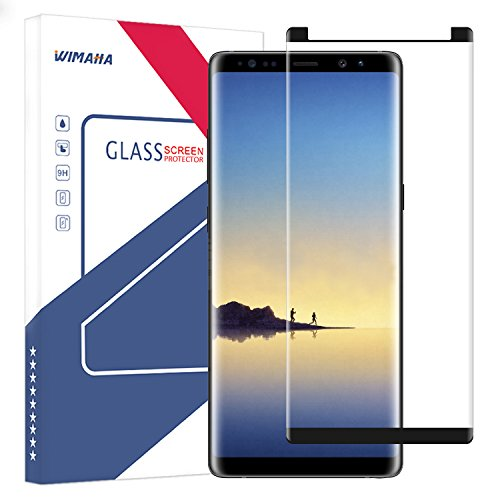 Samsung Galaxy Note 8 Screen Protector (Case Friendly), Wimaha 1 Pack 3D Curved Tempered Glass Screen Protector for Galaxy Note 8 Scratch Resistant Bubble Free – Version 1