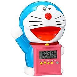 Seiko Clock Character Alarm Clock Doraemon Chattering Alarm Plastic Frame Jf374a