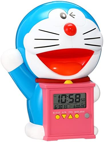 Seiko Clock Character Alarm Clock Doraemon Chattering Alarm Plastic Frame Jf374a