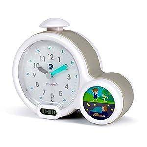 Claessens' Kid - Clock - Réveil Enfant Educatif Jour/Nuit Lumineux - Double Affichage et 3 Alarmes au choix - Fonctionne Sur Secteur ou à Piles - Gris 8