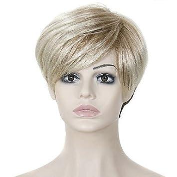 hjl de resistente al calor baratas de pelo peluca Corto pelucas sintéticas para mujeres