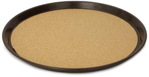 """Carlisle 301501 Polypropylene Round Cork Tray, 15.88"""", Brown (Case of 12)"""