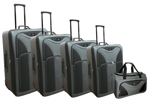 UPC 768410541918, Totes 5 Piece Expandable Luggage, Charcoal/Black