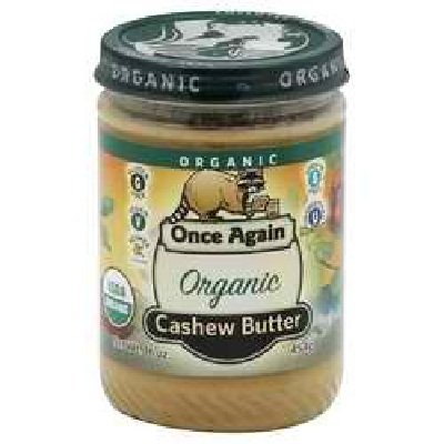 Once Again Organic Creamy Cashew Butter, 16 Ounce -- 12 per case. by Once Again Nut Butter