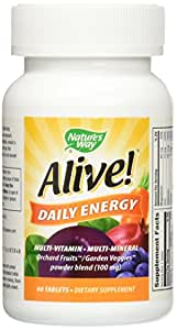 Nature's Way Alive! Daily Energy with Iron, 60 Count
