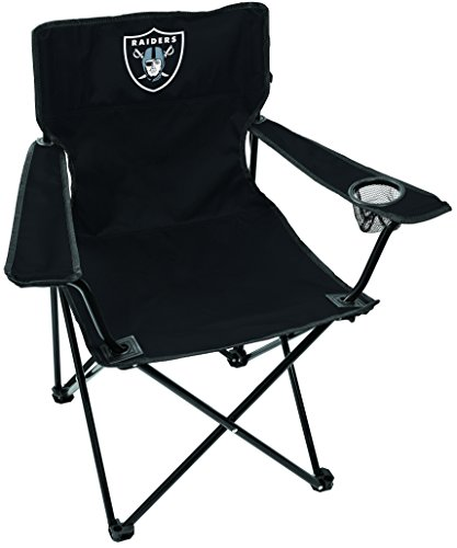 (NFL Oakland Raiders Unisex LP0055NFL Game Day Elite Chair, Black, Adult)