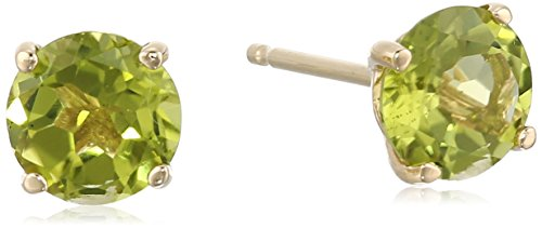 14k Yellow Gold Peridot Stud Earrings (6 - 14k Gold Peridot Earrings