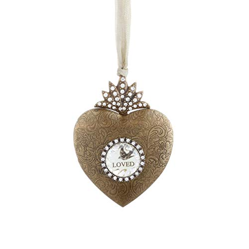 DEMDACO Silvestri Heart Locket Photo Frame Ornament