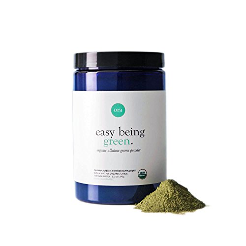 Powder Alkalizing (Ora Organic Beauty Greens | Vegan, Non-GMO, Natural & Raw Superfood Powder & Nourishing Elixir Supplement | Full of Adaptogenic Herbs, Algae & Alkalizing Greens to Support Radiant Skin, Hair & Nails)
