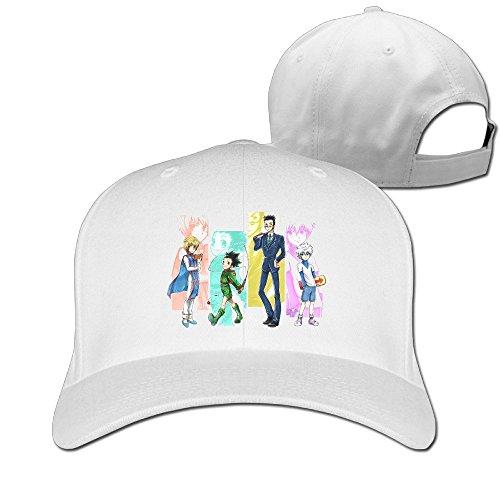 Price comparison product image XSSYZ Unisex Hunter X Hunter Roles Adjustable Baseball Caps White
