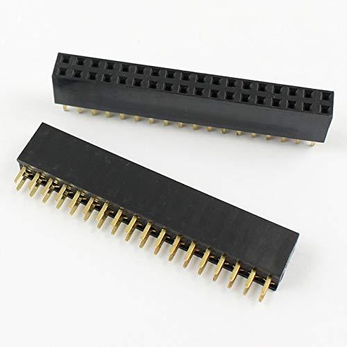 FidgetKute 20Pcs 2.54mm Pitch 2x18 Pin 36 Pin Female Double Row Straight Pin Header - Straight Pin Double