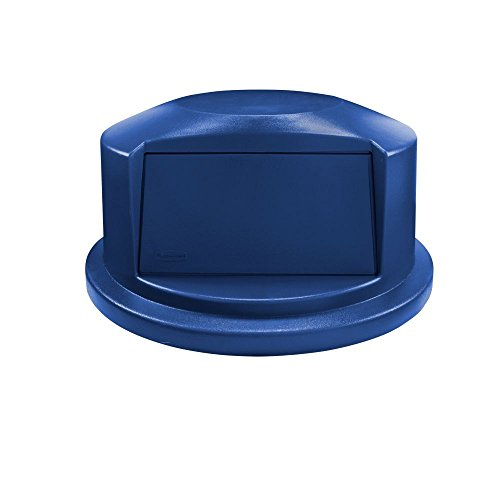 Rubbermaid Commercial Heavy-Duty BRUTE Dome Swing Top Door Lid for 44 Gallon Waste/Utility Containers, Plastic, Blue (1834840) (Plastic Top)