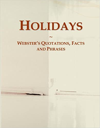 Book Holidays: Webster's Quotations, Facts and Phrases