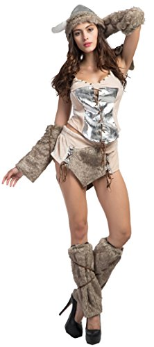 Sexy Viking Warrior Costumes (Fedo Design Women's Striking Viking Vixen Vision Princess Warrior Costume)