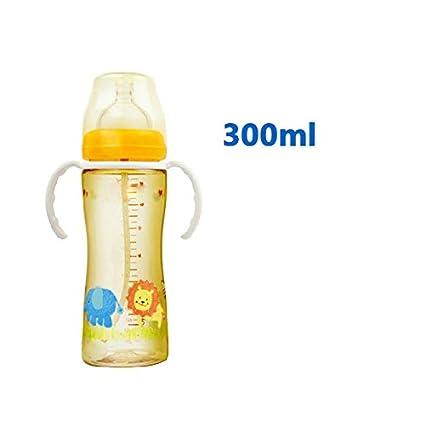 NP Botella Ppsu Botella Ppsu Boca Ancha Botella de Bebé con Paja Botella de Bebé Manejar