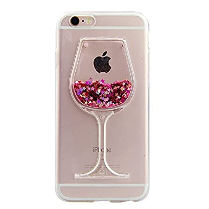 iPhone 6/6S Glitzer Hülle,Schutzhülle iPhone 6S/6 Hülle Kreativ Design 3D Transparent Crystal Clear Soft Silikon Flüssige Hül