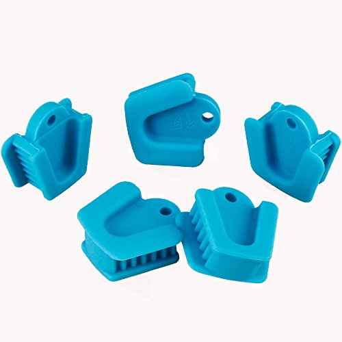 Airgoesin 5pcs Silicone Mouth Prop, Middle Medium Size Child Size Dental Cheek Retractor Oral Bite Block Autoclavable LATEX FREE