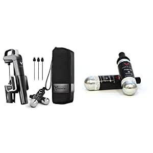 Coravin Model Two Plus Pack & Coravin 1000 Argon Gas Capsules (Pack of 2), Black