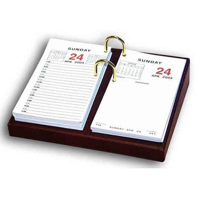 1000 Series Classic Leather Calendar Holder Base in Mocha by Dacasso (Image #1)