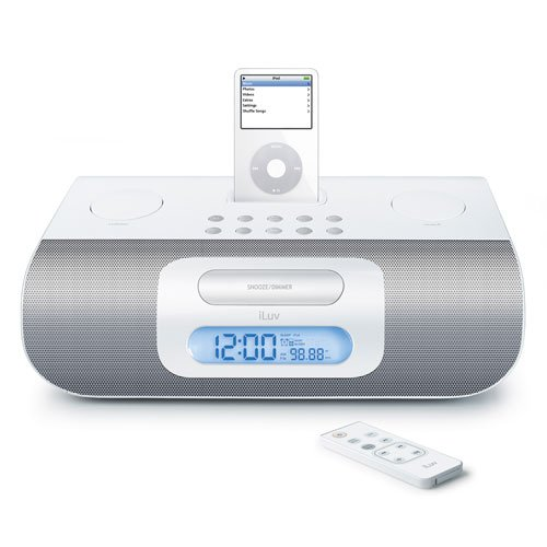 iLuv i177 Alarm Clock Speaker System for iPod (Iluv Ipod Audio System)