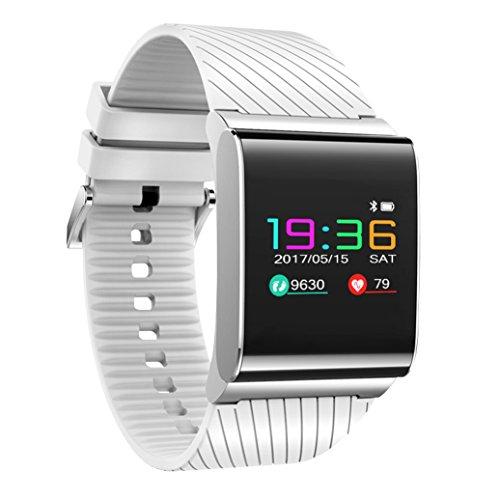 Beafup Kids Adults Smart Watch, Colour Screen Smart Sports Wristband/Waterproof Blood Pressure/heart Rate Smart Watch Android IOS Bluetooth 4.0 Smart Bracelet Message Push Smartwatch by Beafup