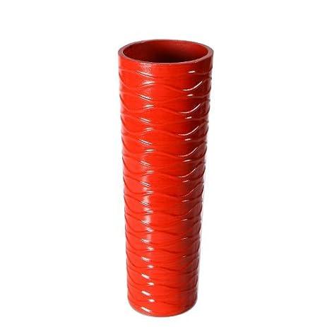 Amazon Adeco Vs0004 Decorative Wood Vase Red Horizontal