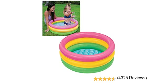 Intex 58924NP - Piscina 3 aros bebé Sunset, 86 x 25cm, 68L: Amazon ...