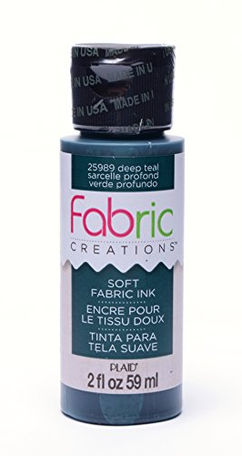 Fabric Creations Fabric Ink in Assorted Colors (2-Ounce), 25989 Deep Teal