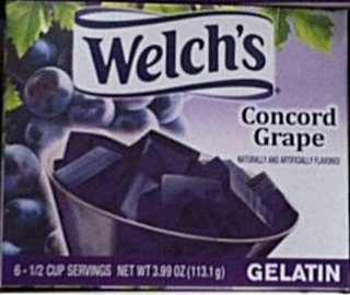 Welch's Concord Grape Gelatin Mix 3.99oz Box (Pack of 12)