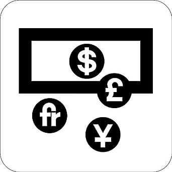 Currency Exchange Bank Transportation Public Service Vinyl
