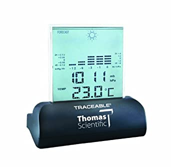 "Thomas Traceable Workstation Digital Barometer, 15 to 158 degree F, 23.62 - 31.0"" Hg, 1/34"" Hg Resolution"