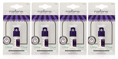 Nailene Ultra Quick Nail Glue 0.10 oz (Pack of 4)]()
