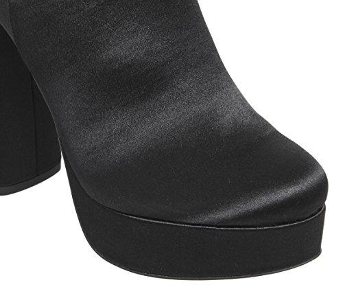 Platform Boots Abbey Road Satin Mega Black Office zxB6wx