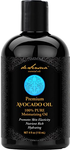 Avocado Oil - 100% Pure- Best For Massage, Moisturizing Skin and Hair, & Carrier Oil For Essential Oils, 4 oz