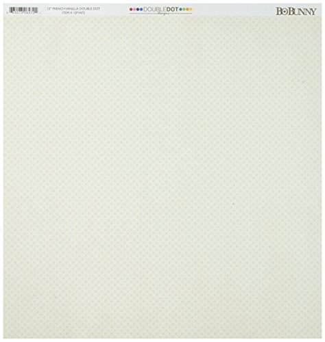 Bo Bunny 12FV472 Double Dot Double-Sided Textured Cardstock (25 Sheets Per Pack), 12