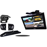 Tadibrothers 7 Inch Ultimate Wireless RV Trailer Backup Camera System License Plate and Side Cameras