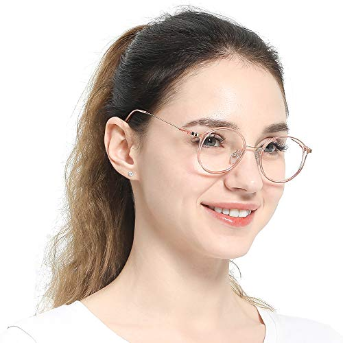 a4d74caed83 SOOLALA Unisex Vintage Inspired Round Circle Reading Glasses Customized  Strengths