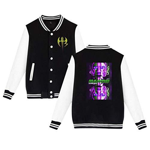 X Q X Baseball Uniform Jacket Sport Coat, JeffHardy Cotton Sweater for Women Men Boy Girls Black -