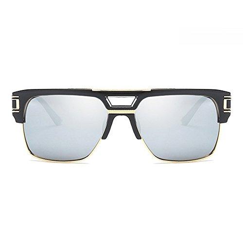 Gradient Cuadrado de Gafas para Plata de para hombre hombre estuche Day Eye Wear sol marco mujer diseño Lens wayfarer Unisex Lentes negro de color marca con de de Vision de lentes q0wqxdra