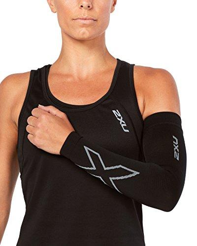 2XU Compression Flex Arm Sleeve - Small - Black/Grey (2xu Arm Compression Sleeve)