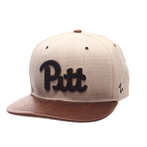NCAA Pittsburgh Panthers Adult Mens Havana Snapback Hat, Adjustable Size, Ivory/Dark Brown