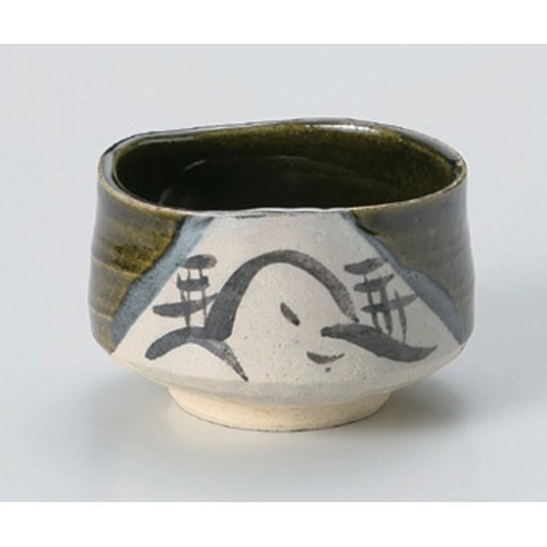 Matcha bowl Oribe Sansui tea bowl ( of ) [11.3 x 7.7cm] Tsuchimono strengthening Japanese instrument Liquor restaurant for hotel business