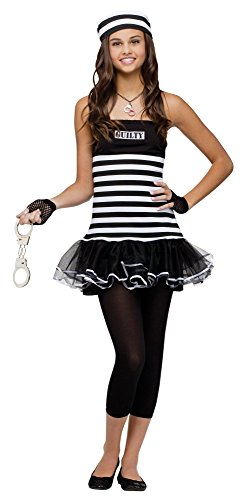 Fun World Costumes Women's Not Guilty Teen Costume, Black/White, Junior(0-9)]()