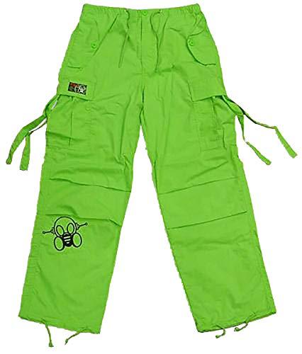 Amdesco Ghast Unisex Kids Boys & Girls Cargo Youth Pants Lime Green, Large