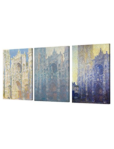 DECORARTS Cathedral Triptych Claude Reproduction