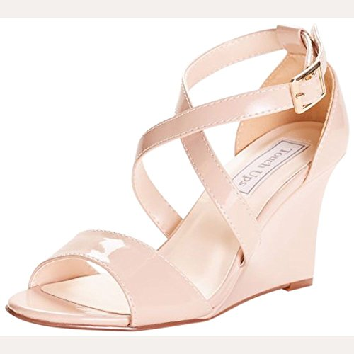 Touch Ups Women's Jenna Wedge Sandal, Nude, 7.5 M US