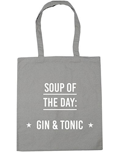 litres Beach 10 Light x38cm Grey Soup Bag Of HippoWarehouse amp; The Day Tonic Gin 42cm Gym Shopping Tote vZASHqw