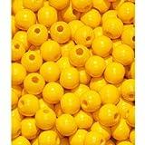 110 Holzperlen 6mm gelb speichelfest & schweißecht Made in Germany